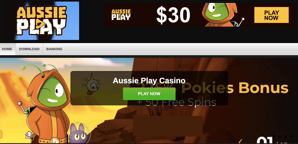 aussie play casino screen shot