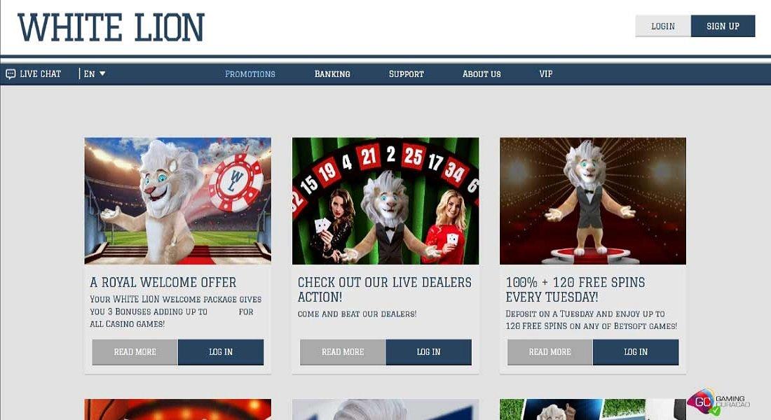 White Lion Bets Casino